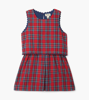 Hatley | Holiday Plaid Layered Dress