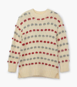 Hatley | Holiday Stripe Basketweave Sweater