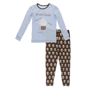 Kickee Pants | Winter Celebrations Long Sleeve Pajama Set | Hot Cocoa