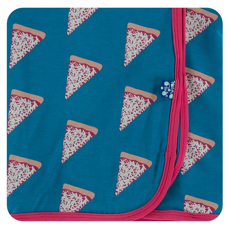 Kickee Pants | Culinary Swaddling Blanket | Seaport Pizza Slices