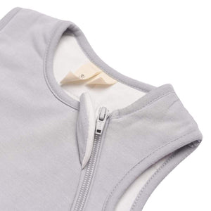 1.0 TOG bamboo super soft infant sleep sack in storm grey. From Kyte Baby. Closeup