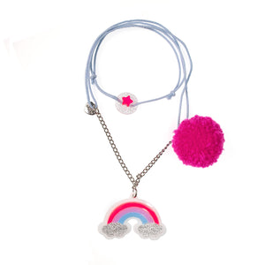 Lilies & Roses NY | Rainbow Pom Necklace