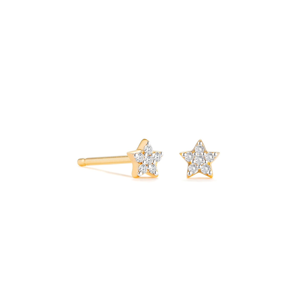 Little CZ Star Stud Earrings | 18k Gold