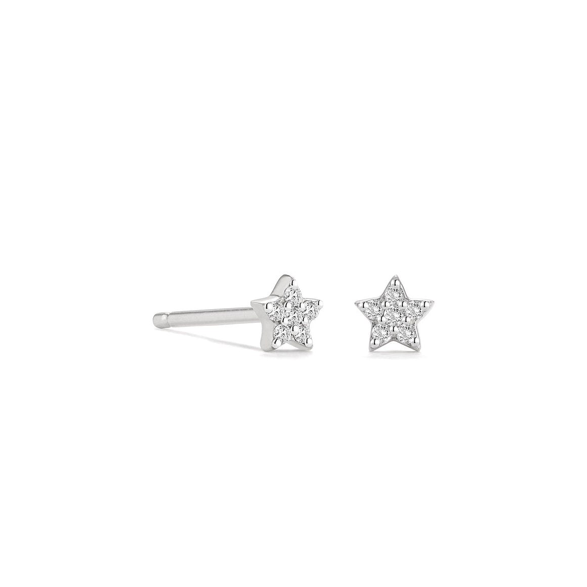 Little CZ Star Stud Earrings | Sterling Silver