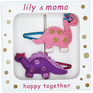 Lily & Momo | Little Dino Hair Clips Box Set