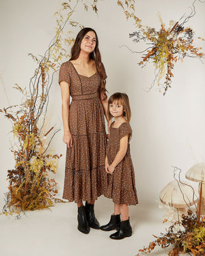 Rylee and Cru | Enchanted Forest Women's Ada Dress | Wine Dot