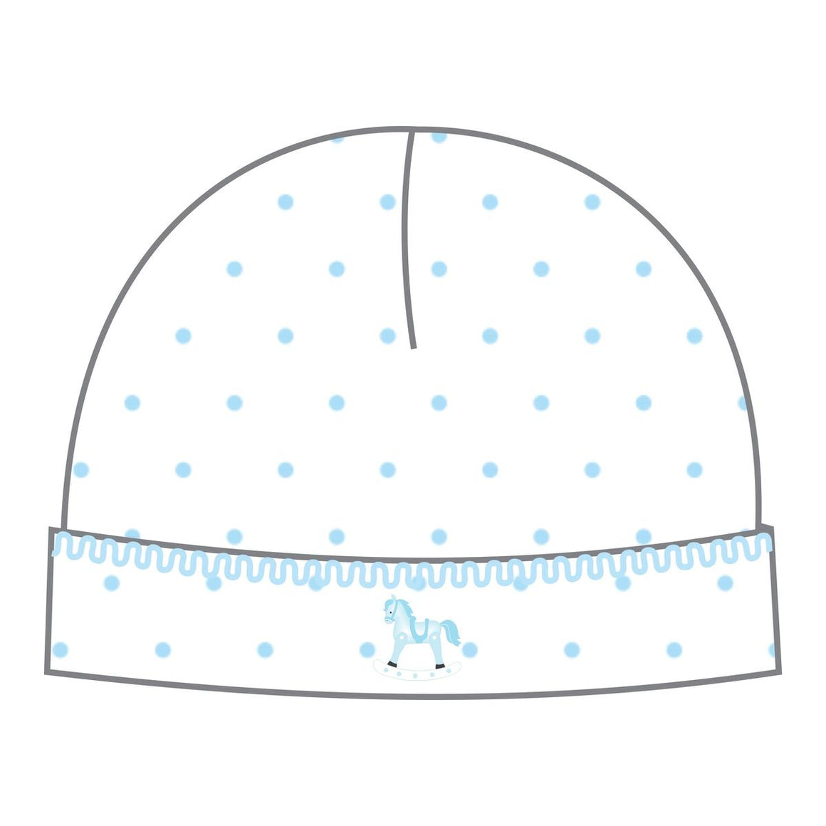 Magnolia Baby | Vintage Hobby Horse Blue Embroidered Hat