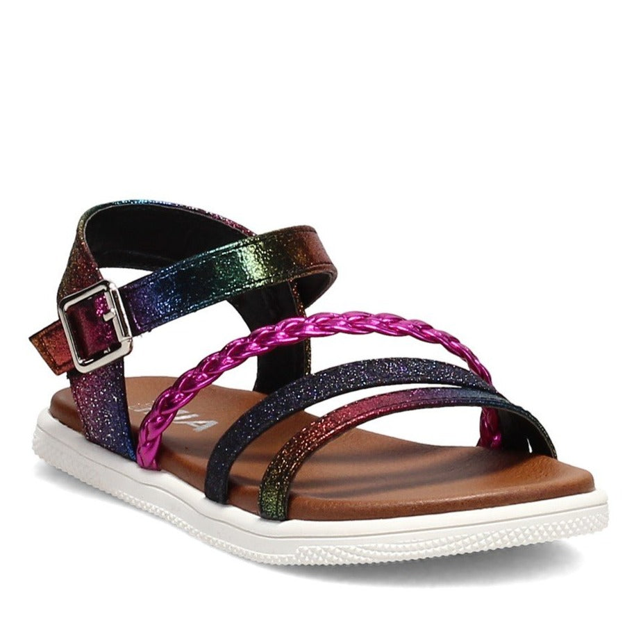 MIA Kids | Little Missy Sandal | Rainbow Sparkle