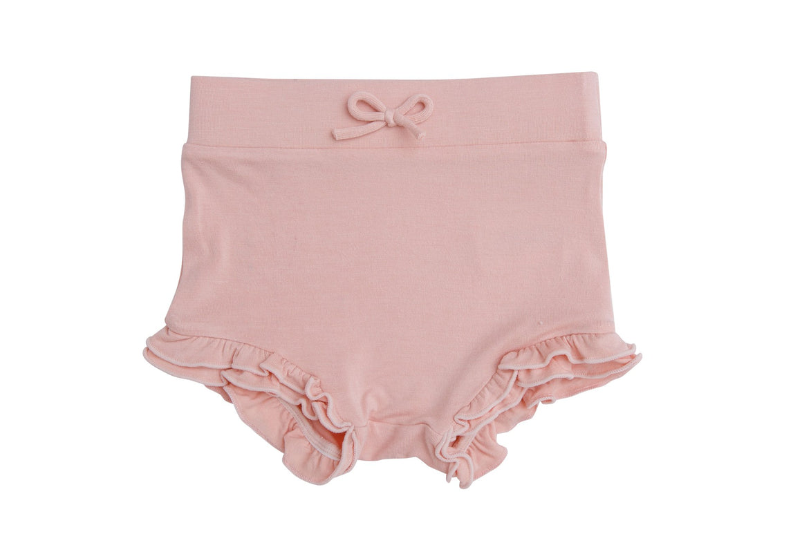 Angel Dear | Modern Basics High Waist Shorts | Dust Pale Pink