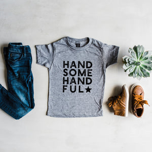 Gladfolk | Handsome Handful Modern Tee | Heather Grey