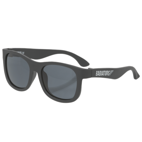 "Original navigator baby and toddler sunglasses in ""black ops"". 100% UVA and UVB protection. Babiators."