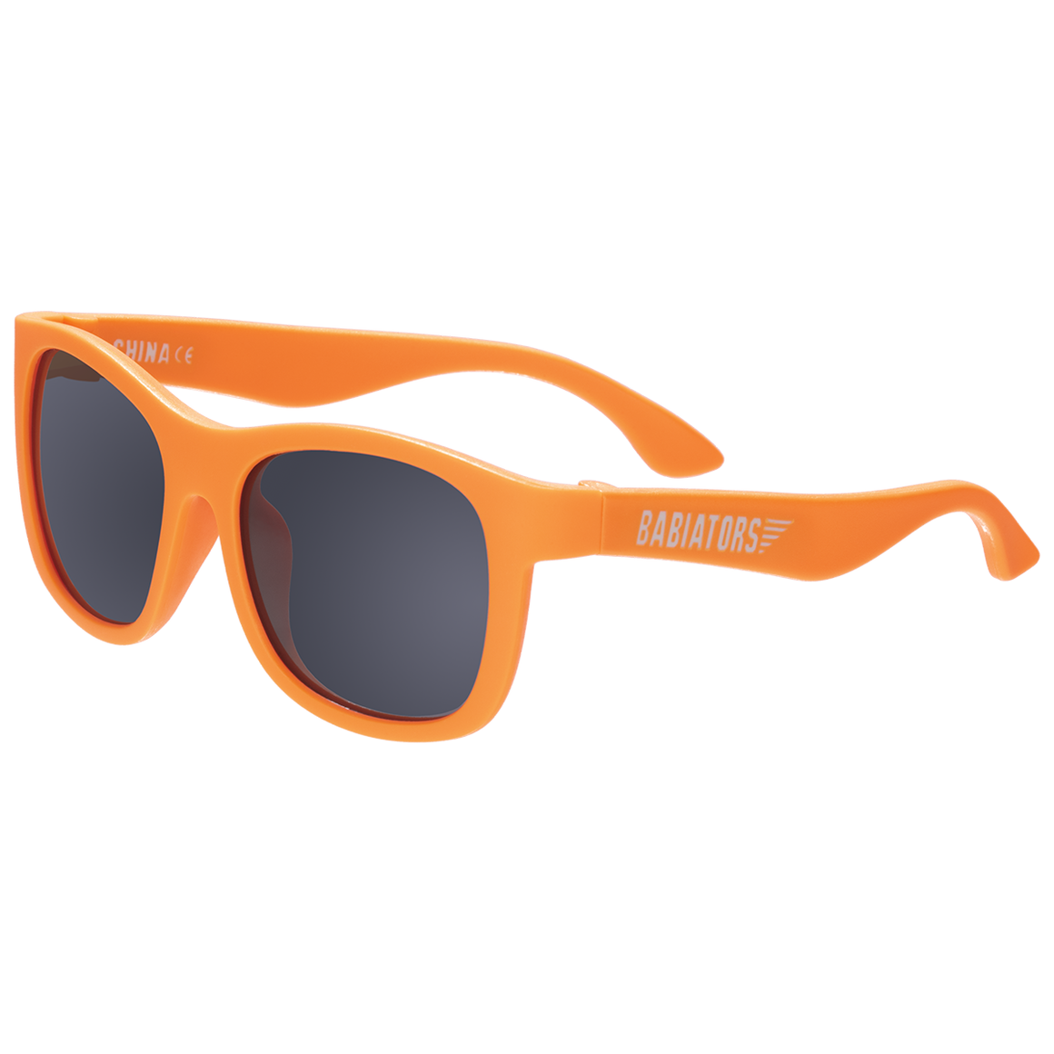 "Original navigator baby and toddler sunglasses in orange ""crush"". 100% UVA and UVB protection. Babiators."