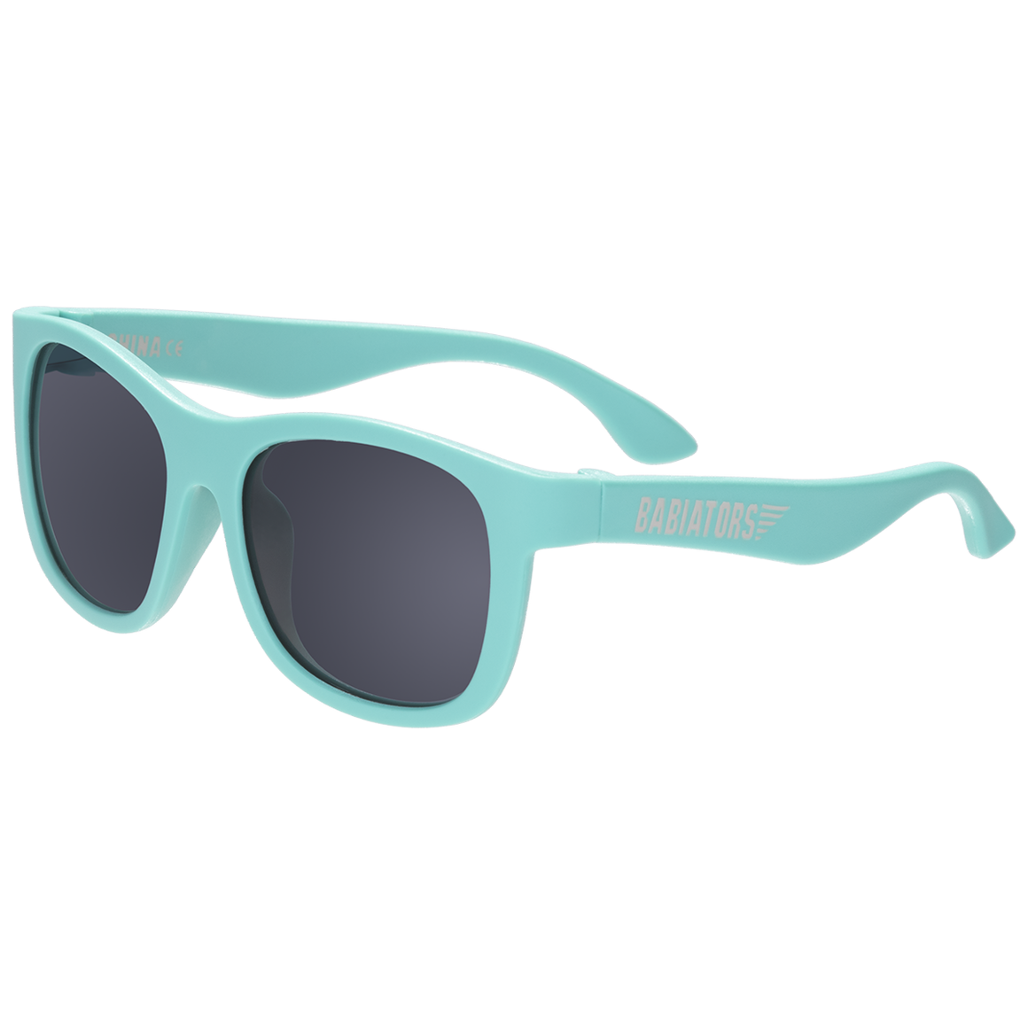 "Original navigator baby and toddler sunglasses in ""totally turquoise"". 100% UVA and UVB protection. Babiators."