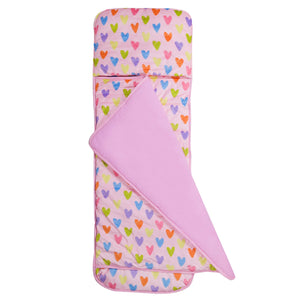 Wildkin Olive Kids | Pink Hearts Plush Nap Mat