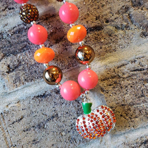 Pumpkin Pendant Beaded Necklace