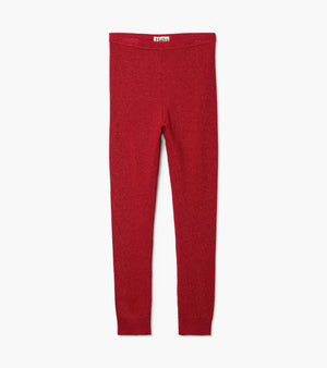 Hatley | Red Shimmer Cable Knit Footless Tights