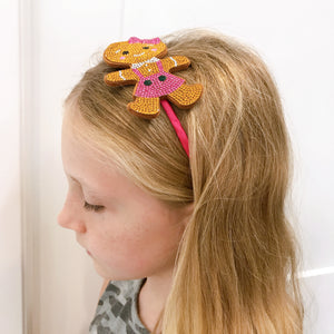 Rhinestone Gingerbread Girl Headband