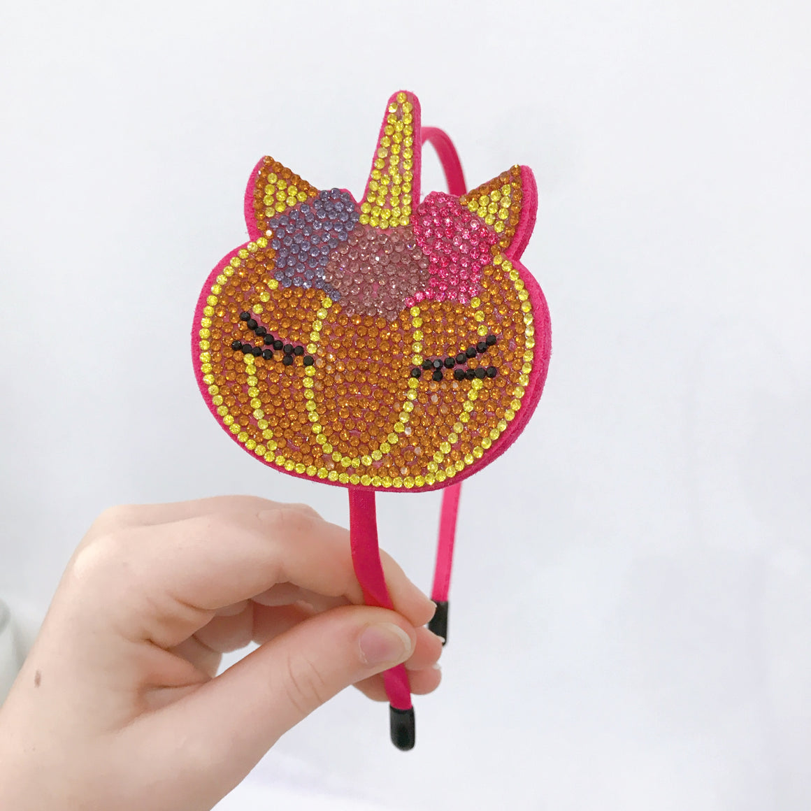 Rhinestone Unicorn Pumpkin Headband