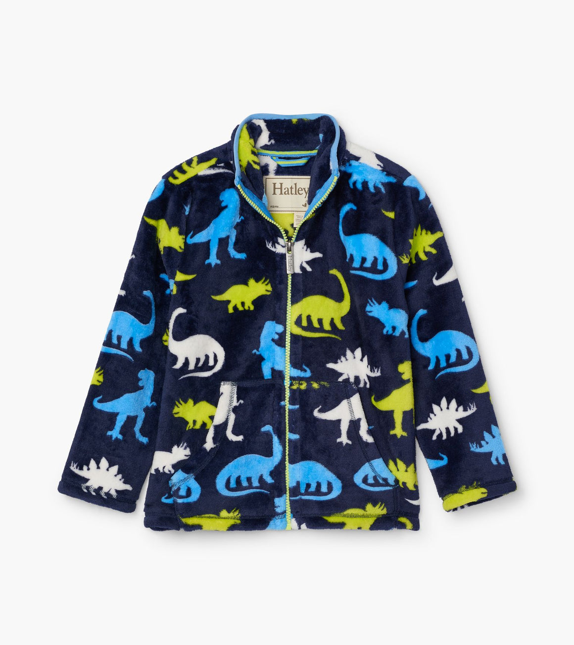 Hatley | Silhouette Dinos Fuzzy Fleece Zip Up