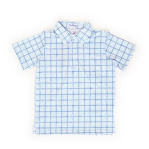 Blue Quail Clothing Co | Short Sleeve Polo Shirt | Watercolor Tattersall