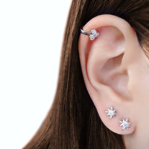 Starburst Stud Earrings | 18k Gold