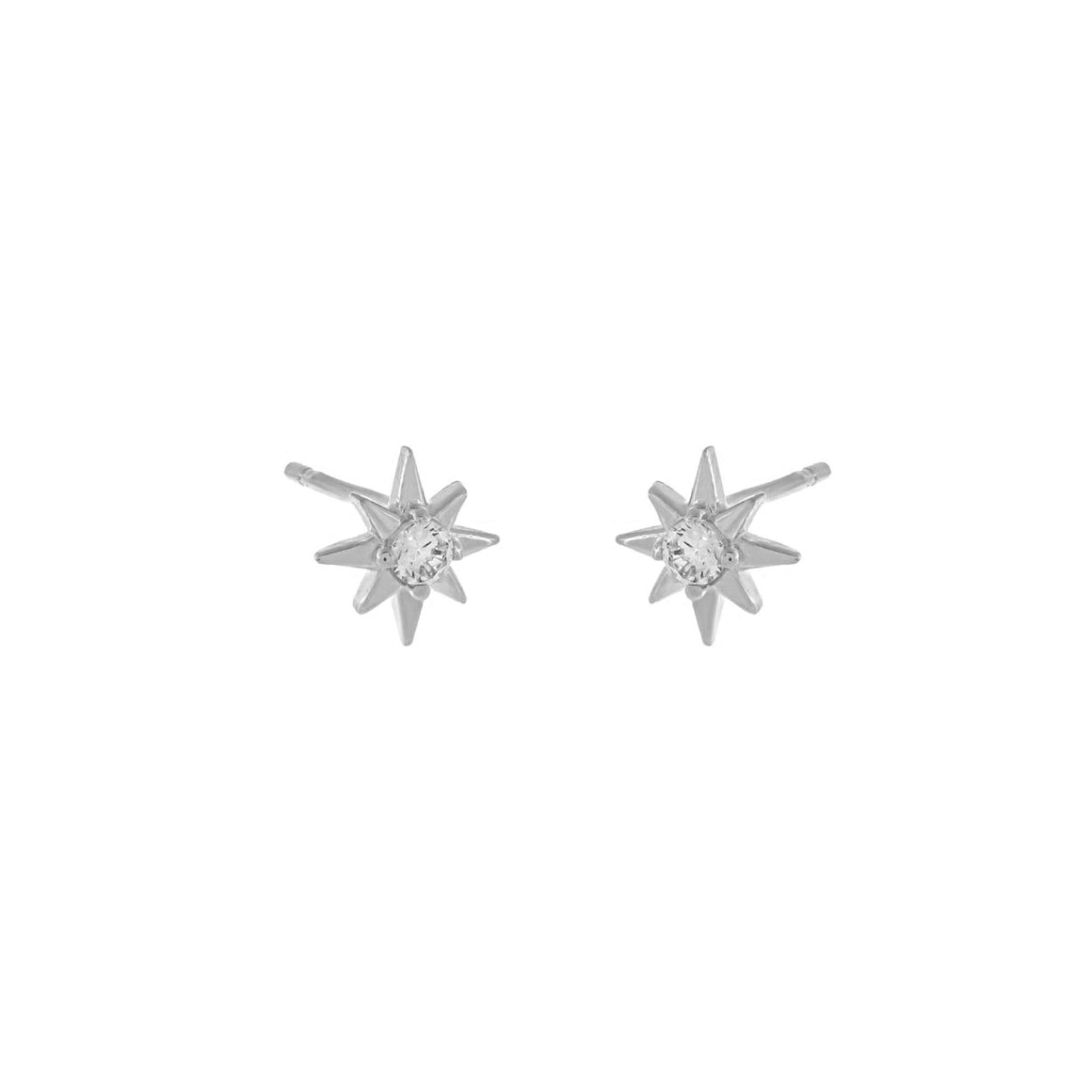 Starburst Stud Earrings | Sterling Silver