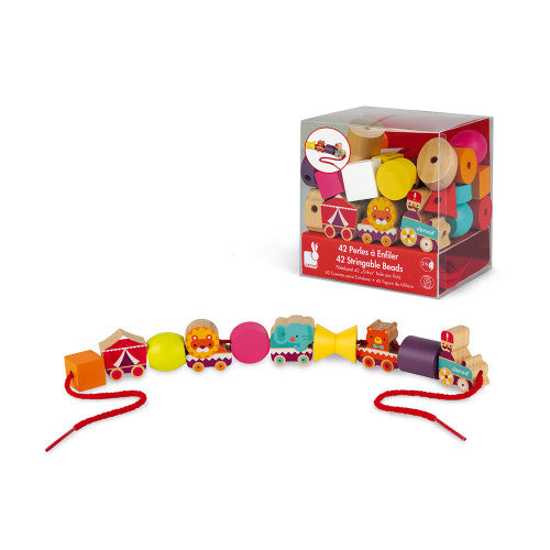 Janod | Stringable Circus Themed Beads