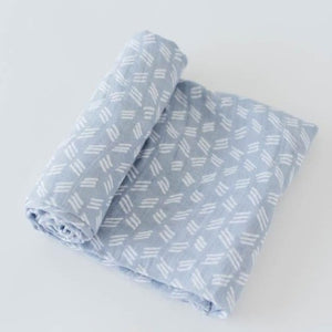 Little Unicorn | Cotton Muslin Swaddle | Blue Grass