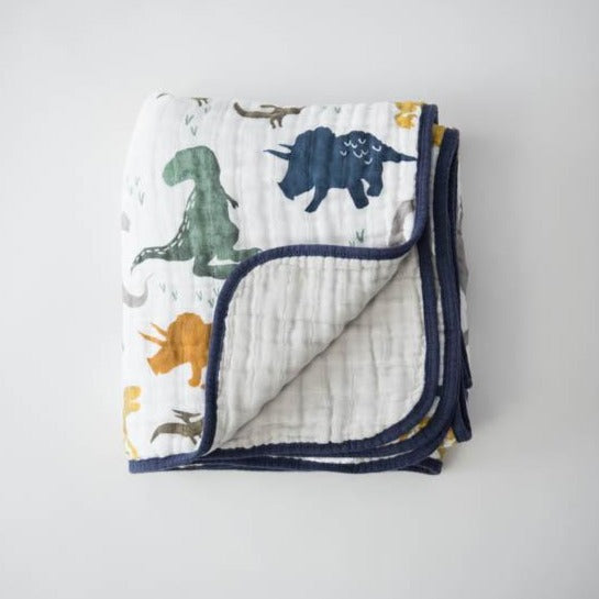 Little Unicorn | Cotton Muslin Quilt | Dino Friends