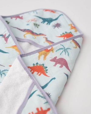 Little Unicorn | Cotton Hooded Towel & Wash Cloth | Embroidosaurus CLOSEUP