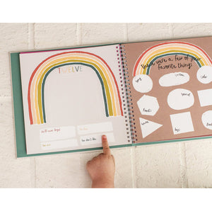 "Lucy Darling Baby's First Year ""Little Rainbow"" Memory Book favorite things"