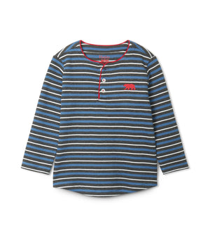 Hatley | Winter Stripe Long Sleeve Henley