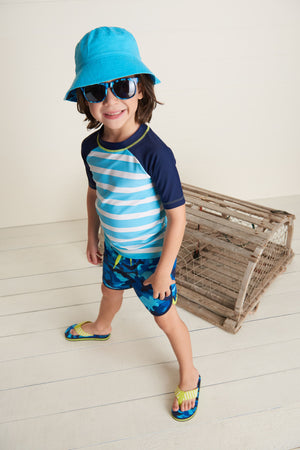 Hatley | Great White Sharks Reversible Sun Hat