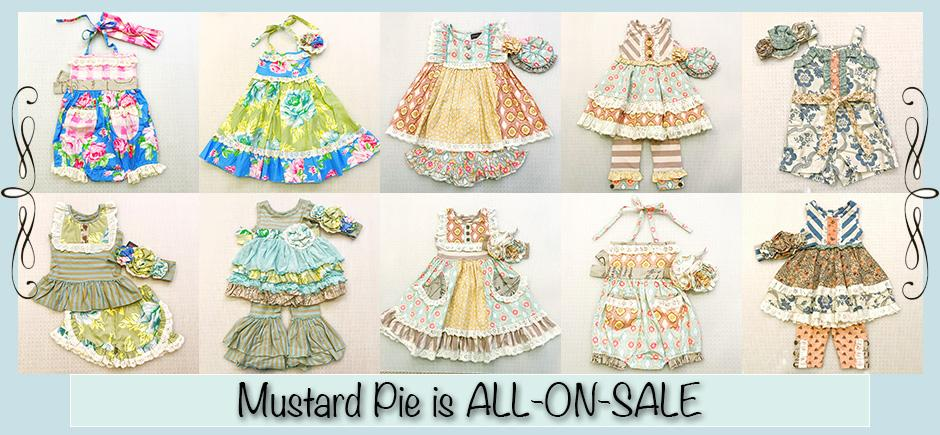 ALL ON SALE - Mustard Pie Spring Summer 2018 - Stock up now!