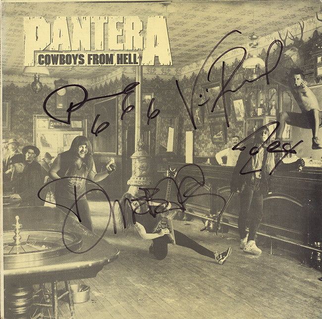 Pantera Band Signed Cowboys From Hell Album