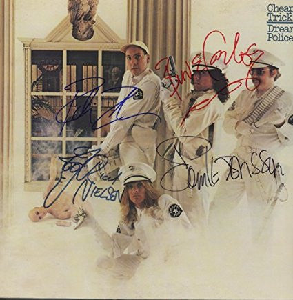 Cheap Trick Band Signed Dream Police Album