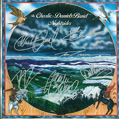 Charlie Daniels Band Signed Nightrider Album - Zion Graphic Collectibles