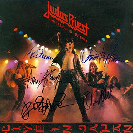 Judas Priest Band Signed Unleashed in the East Album - Zion Graphic Collectibles