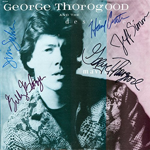 George Thorogood and the Destroyers Band Signed Maverick Album - Zion Graphic Collectibles