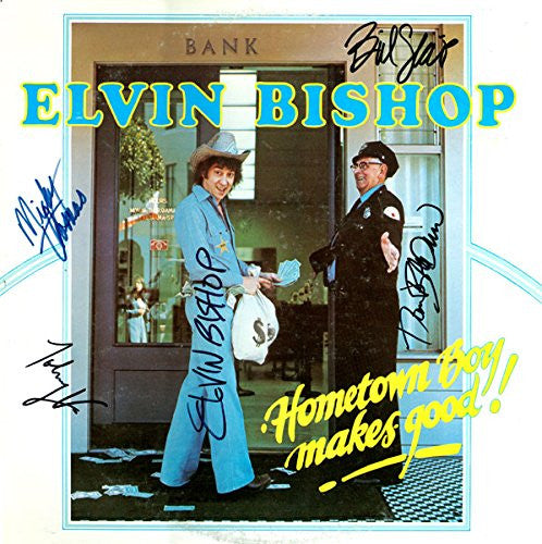 Elvin Bishop Band Signed Hometown Boy Makes Good Album - Zion Graphic Collectibles