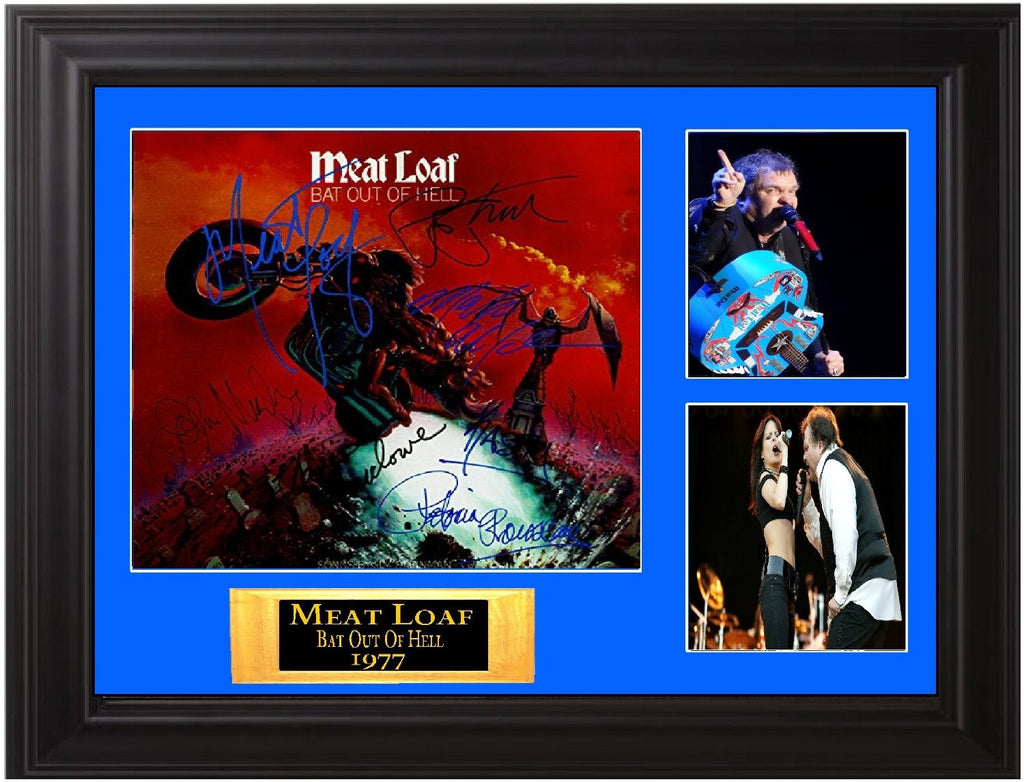 Meat Loaf Autographed Lp Bat Out of Hell - Zion Graphic Collectibles