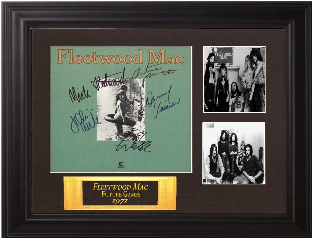 "Fleetwood Mac Autographed Framed Collectible Display Lp ""Future Games"""