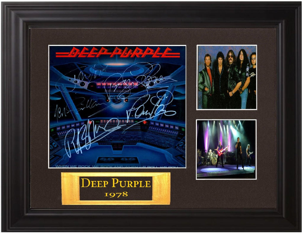 Deep Purple Band Signed When We Rock, We Rock, And When We Roll, We Roll Album - Zion Graphic Collectibles