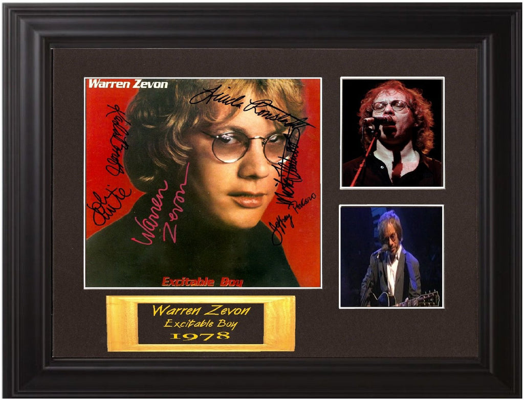 Warren Zevon Band Signed Album - Zion Graphic Collectibles