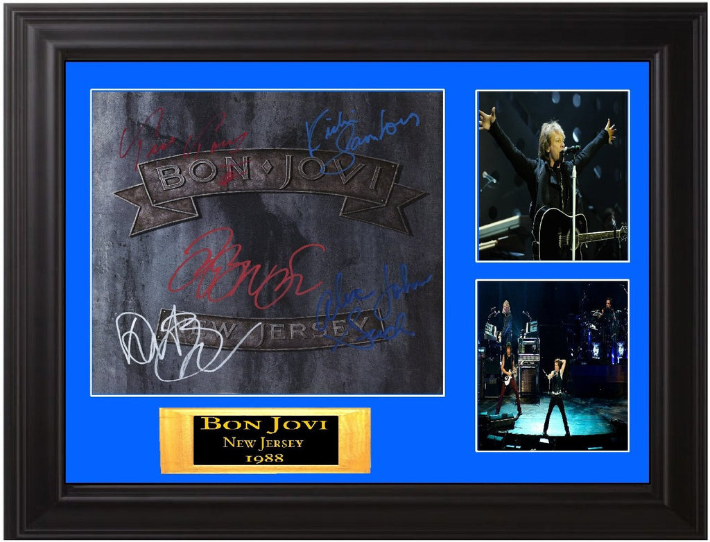 Bon Jovi Band Signed New Jersey Lp - Zion Graphic Collectibles