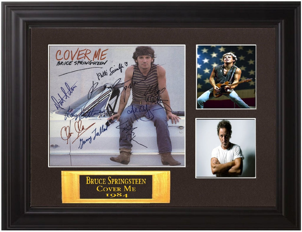 Bruce Springsteen & E. St. Band Autographed Lp Display