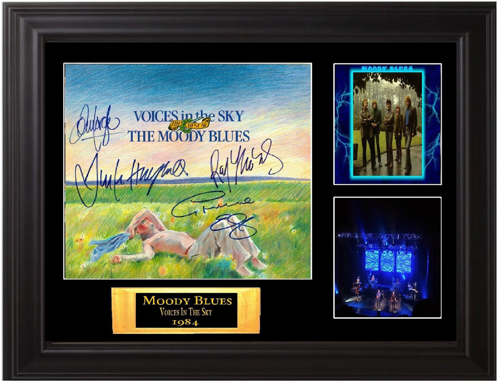 "Moody Blues Autographed Lp ""Voices in the Sky"""