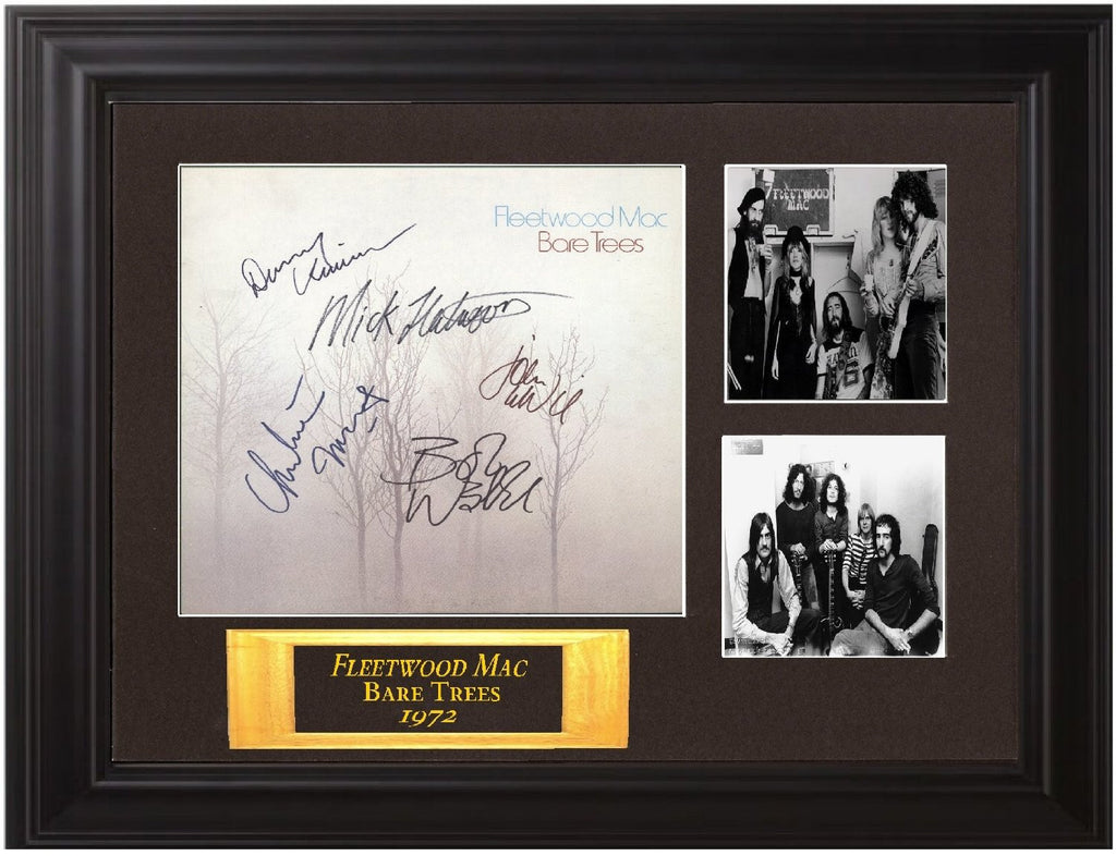 "Fleetwood Mac Autographed Framed Display Lp ""Bare Trees"" - Zion Graphic Collectibles"