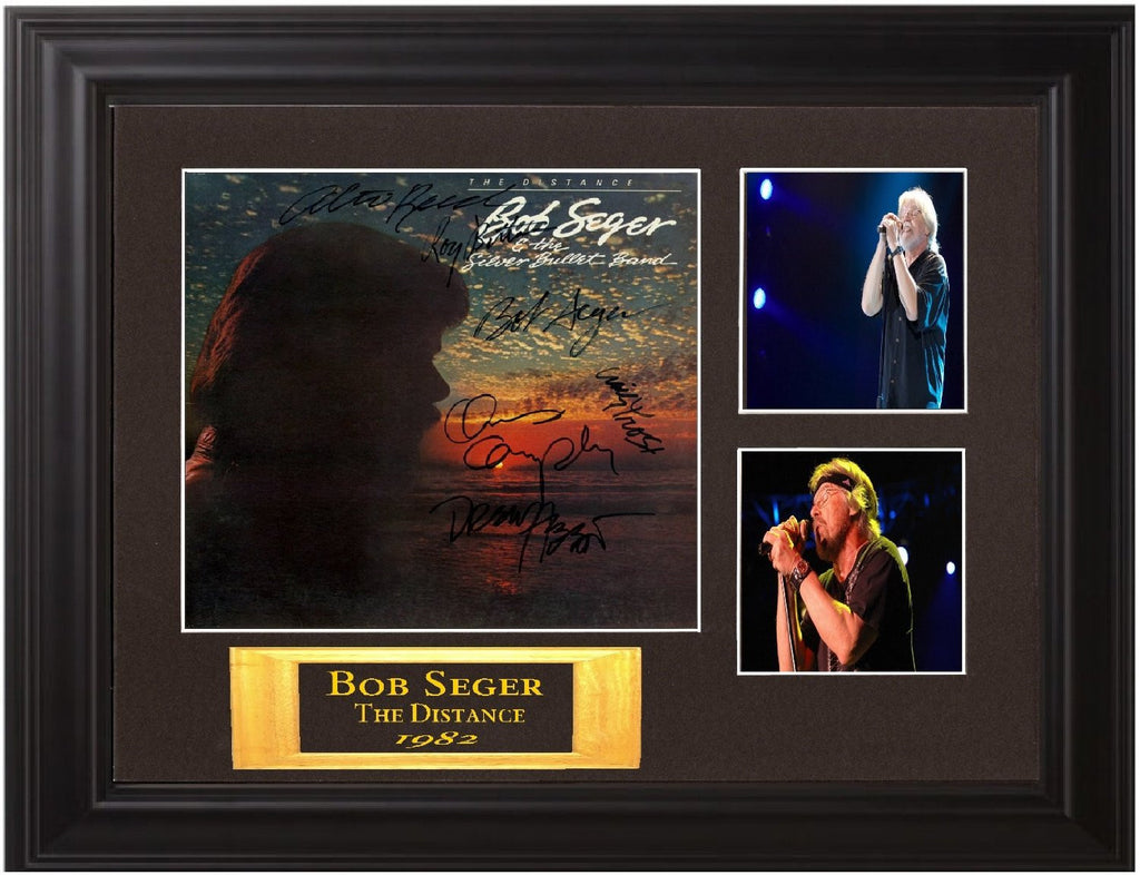 "Bob Seger and the Silver Bullet Band Autographed Lp ""The Distance"" - Zion Graphic Collectibles"