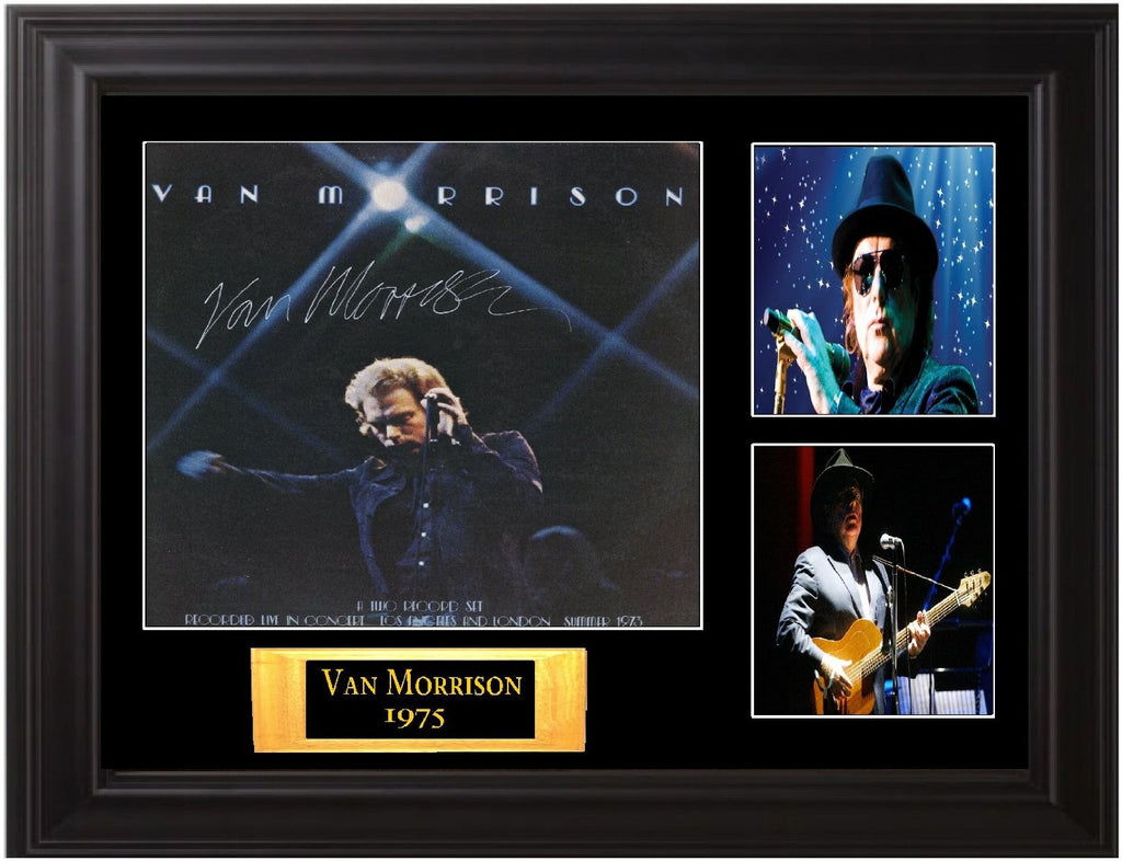 "Van Morrison Signed Album Lp ""It's Too Late to Stop Now"" - Zion Graphic Collectibles"